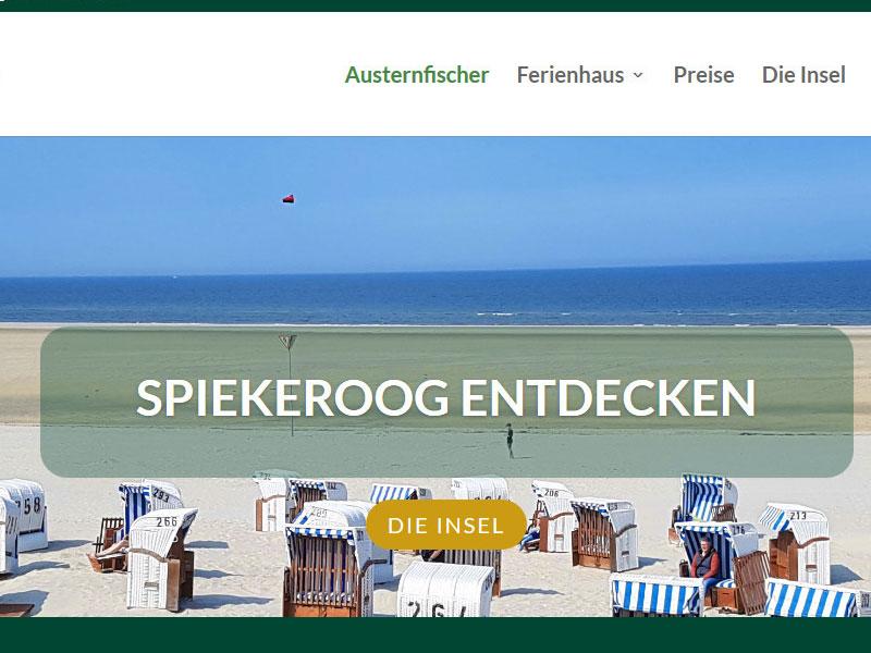 Weblabyrinth Referenzen, Ferienhaus Spiekeroog